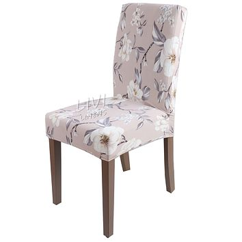 Printing Zebra Leopard Printing Spandex Stretch Dining Chair Cover Machine Washable Restaurant