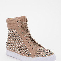 Jeffrey Campbell Alva Snake Stud High-Top Sneaker