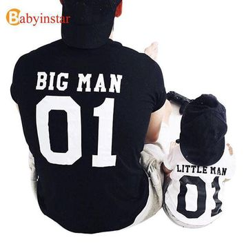 CREYON (Big Man & Little Man) Father Son Matching Tops Tees Family Matching Outfits Family Look Creative T-shirt New Arrival