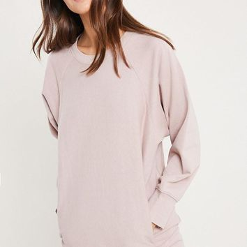 Let's Stay Home Sweatshirt - Dusty Blush