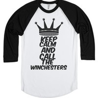 Keep Calm-Unisex White/Black T-Shirt