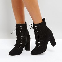 Faith Bria D Ring Lace Up Boots at asos.com