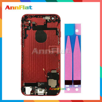 For IPhone 6 6G 4.7'' Full Housing Back Cover Battery Frame Assembly Complete With Flex Cables Free custom imei code + Tools