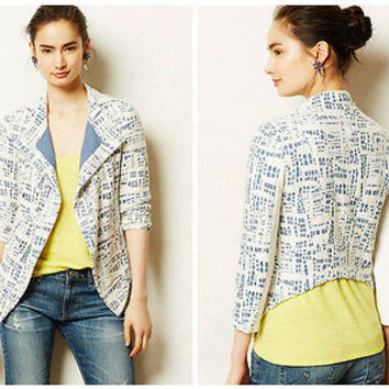 NWT Anthropologie Rinsed Indigo Jacket Sz M - by The Addison Story