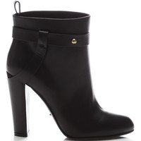 Sergio Rossi Leather Ankle Boot Black