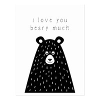 I Love You Beary Much Postcard