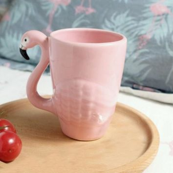 Ceramic Pink Flamingo Teapot and Coffee Cup