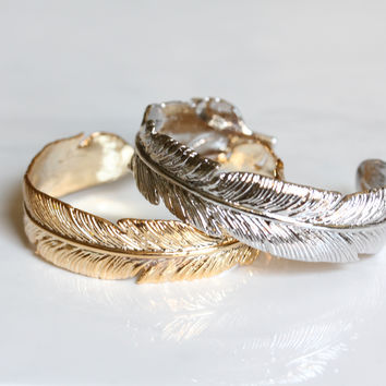 Feather Cuff Bangle