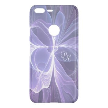 Monogram Purple Abstract Modern Fractal Uncommon Google Pixel XL Case