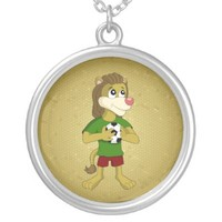 Necklace with cute lion cartoon
