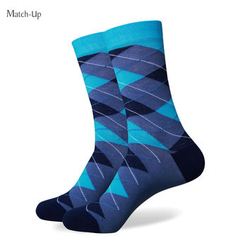 Men's combed cotton socks high quality fashion Christmas MEN argyle socks