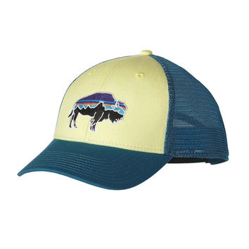 Patagonia Fitz Roy Bison LoPro Trucker Hat- Lite Blazing Yellow