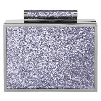 Iga Purple Glitter Clutch Bag
