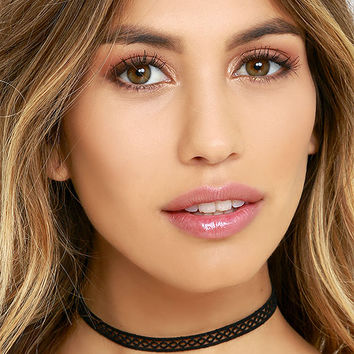 Tricycle Race Black Lace Choker Necklace