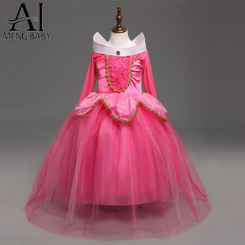 Ai Meng Baby Fantasy Kids Sleeping Beauty Cosplay Costume Princess Aurora Dresses Girls Halloween Costume For Kids Party Dress