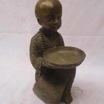 "Collectible  Chinese Old Copper Carved  ""Buddha "" Sculpture /Antique Buddha  statue - Buddha Figurines"