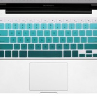 "Litop® 13-inch Gradient Green Thin Silicone Keyboard Cover Keyboard Skin for All 13"" 15"" 17"" Apple Macbook Pro and Apple Wireless Keyboard (Green Gradient)"