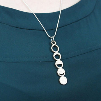 3D Printed Moon Phase Necklace