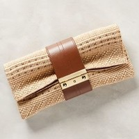 Joanna Maxham Nitecap Straw Clutch Natural One Size Clutches