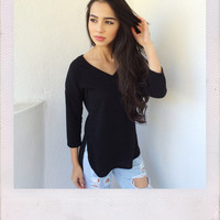 Aria Knit Top- Black