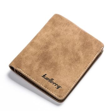 High Quality Soft Leather Wallet Men Vintage Style Men Wallets Leather Purse Male Credit Card Holder Men Wallets Coin Pocket.