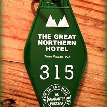"TWIN PEAKS Inspired ""Great Nothern Hotel"" keychain, key fob"