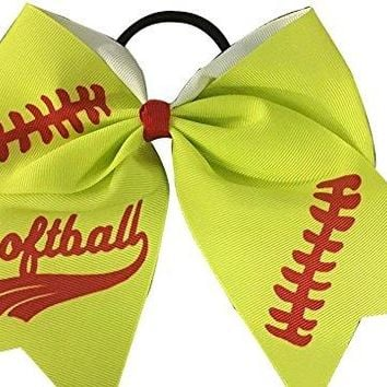 Softball Stitch Hair Bow