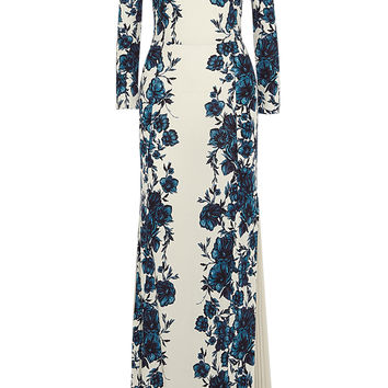 Tory Burch - Stacy floral-print jersey maxi dress