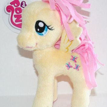 "Licensed cool RARE 5 1/2"" My Little Pony Plush FLUTTERSHY Toy Doll Plushie MLP New With Tag"