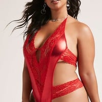 Glitter Thong Lace Teddy