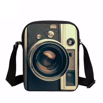 Vintage 3D Camera Oxford Style Travel Bag