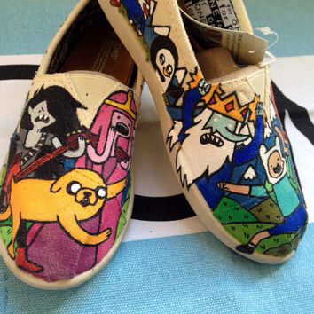 Youth adventure time Tom shoes  by InSensDen on Etsy