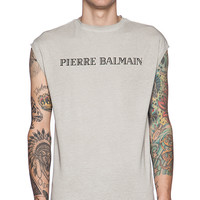 Pierre Balmain Graphic Tee in Taupe