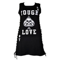 Heartless Clothing Gothic Punk Rock Tough Love Side Corset Shirt Mini Dress