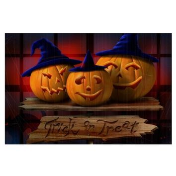 Trick Or Treat Pumkins Sign