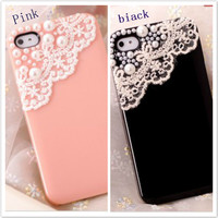 iphone4/4S pearl lace shell  SKJ0001