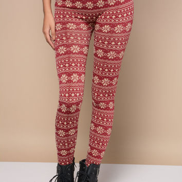 MERRY & BRIGHT FLEECE LEGGINGS