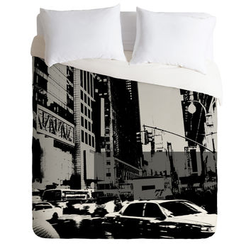 Amy Smith NY Street Grayscale Duvet Cover