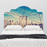 Brooklyn Bridge Adhesive Headboard wall decal