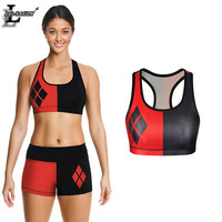 Summer Style Harley Quinn 3D Print Vest Running Sports GYM Fitness Sleeveless Bra