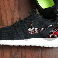Nike Roshe Run Black The Walking Dead Custom