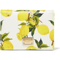 Dolce & Gabbana - Printed textured-leather cardholder