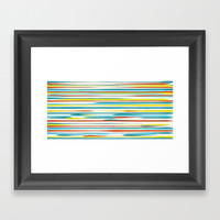 Stripe Framed Art Print by DAVID DARCY