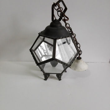 Lantern, geometric, french vintage, antique french, home decor, antique lamp, lanterns, art deco, hanging light, ceiling light, chic,