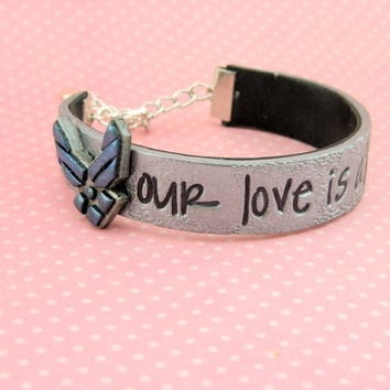 Our love is above all, air force wife bracelet, air force girlfriend bracelet, air force fiance bracelet