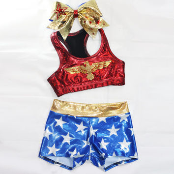 Wonder Woman inspired workout set