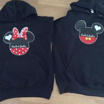 Free Shipping for US Disney Mickey and Minnie Mr. and Mrs. Couples Hoodies