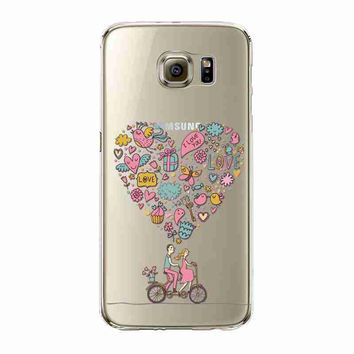 Phone Case For Samsung Galaxy S6 Beautiful Dandelion Balloons Peacock Fruit Soft TPU Back Cover Skin Shell Capa Celular