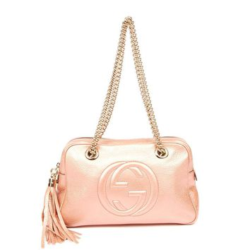 Gucci Metallic Rose Soho Shoulder Bag 5618 (Authentic Pre-owned)
