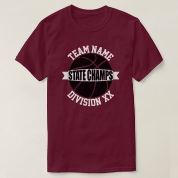 Maroon High School Basketball State Championship T-Shirt